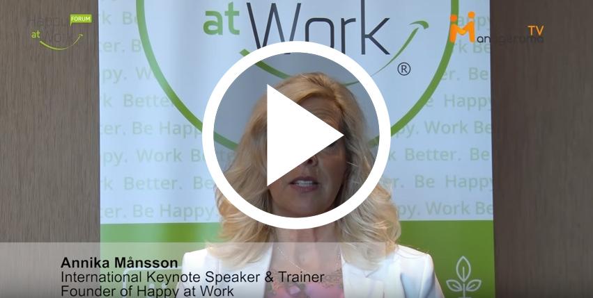 Annika Happy at Work Forum Interview 2018
